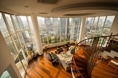 4 bedroom penthouse for rent at Moon Tower - Condominium - Khlong Tan Nuea - Thong Lo