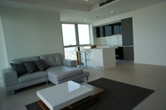 Two bedroom condo for rent at The River - High floor